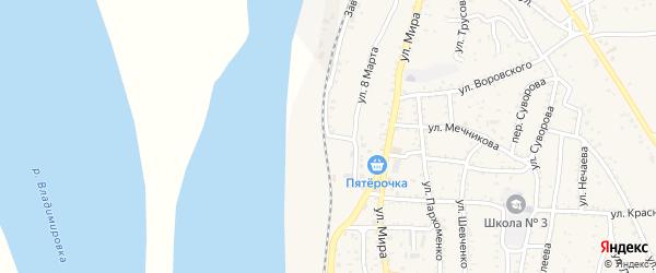 Заводская улица на карте Ахтубинска с номерами домов