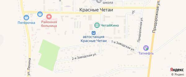 Молодежная 1-я улица на карте села Красные Четаи с номерами домов