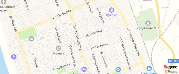 Красноармейская улица на карте Ахтубинска с номерами домов