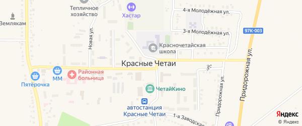 Площадь Победы на карте села Красные Четаи с номерами домов