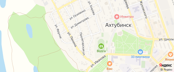 Улица Можайского на карте Ахтубинска с номерами домов