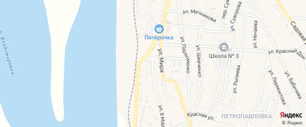 Улица 8 Марта на карте Ахтубинска с номерами домов