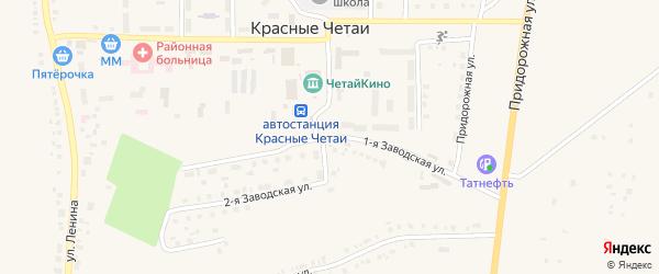 Заводская улица на карте деревни Черепаново с номерами домов