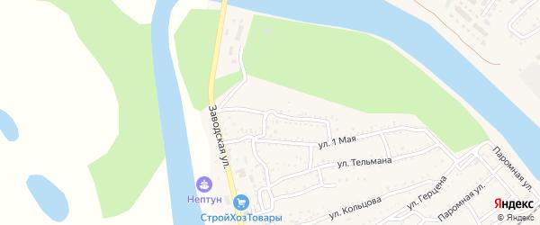 Улица Матросова на карте Ахтубинска с номерами домов