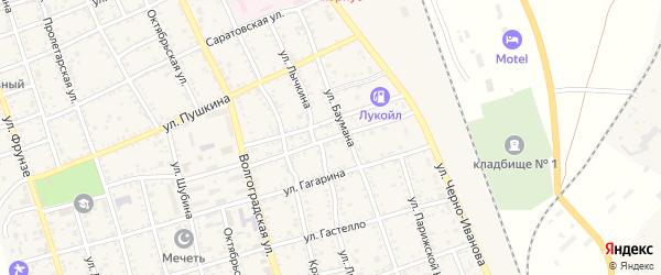 Улица Горького на карте Ахтубинска с номерами домов