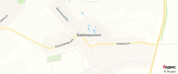 Карта села Баймашкино в Чувашии с улицами и номерами домов