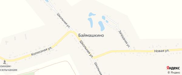 Школьная улица на карте села Баймашкино с номерами домов