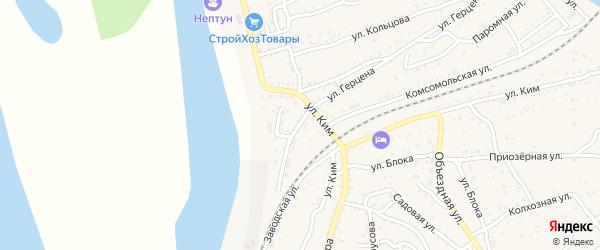 Улица Р.Люксембург на карте Ахтубинска с номерами домов