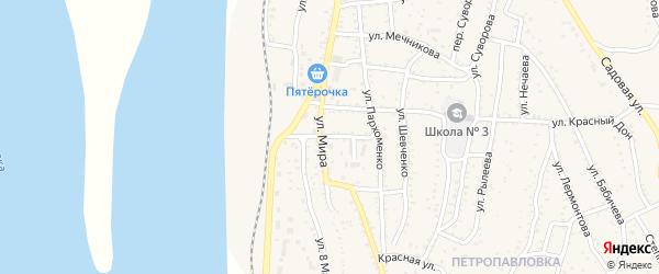 Улица Бетховена на карте Ахтубинска с номерами домов