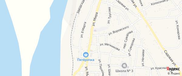 Улица Мира на карте Ахтубинска с номерами домов
