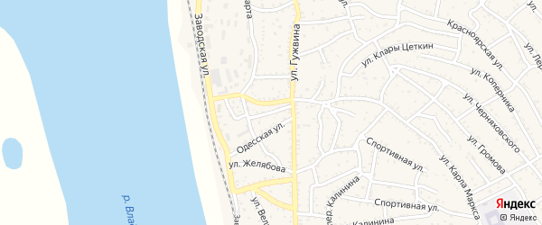 Улица Бабушкина на карте Ахтубинска с номерами домов