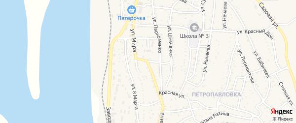 Улица Шаумяна на карте Ахтубинска с номерами домов