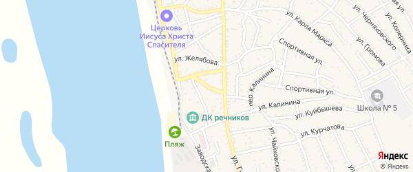 Улица Чапаева на карте Ахтубинска с номерами домов