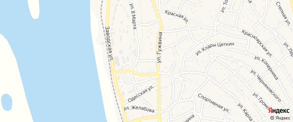 Советский переулок на карте Ахтубинска с номерами домов