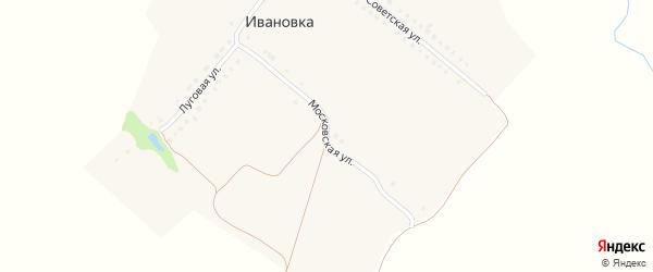 Московская улица на карте деревни Ивановки с номерами домов
