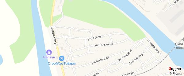 1 Мая улица на карте Ахтубинска с номерами домов