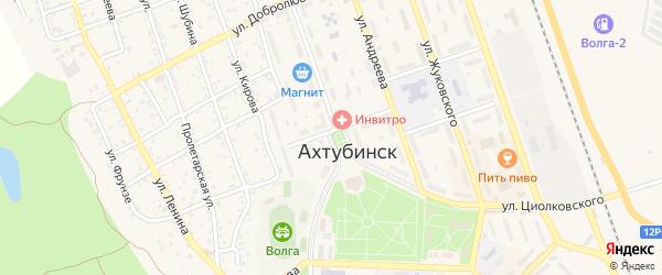 Сталинградская улица на карте Ахтубинска с номерами домов