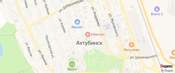Переулок Ульяновых на карте Ахтубинска с номерами домов
