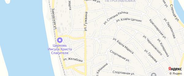 Улица Желябова на карте Ахтубинска с номерами домов