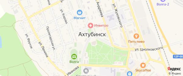 Площадь Ленина на карте Ахтубинска с номерами домов