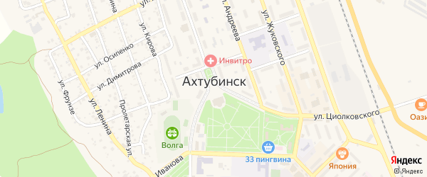 Микрорайон Мелиораторов на карте Ахтубинска с номерами домов