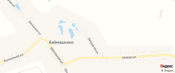 Запрудная улица на карте села Баймашкино с номерами домов