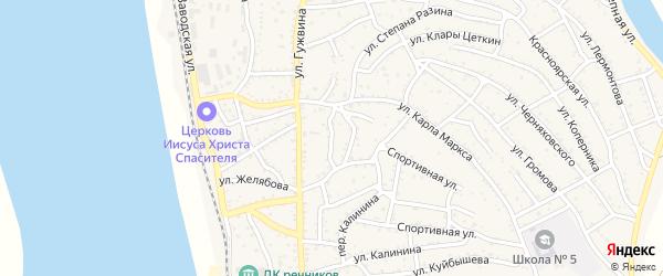 Пионерская улица на карте Ахтубинска с номерами домов