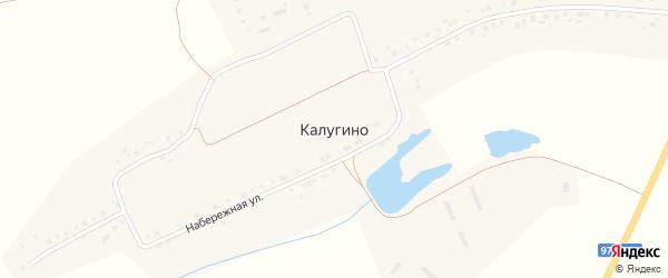 Шоссейная улица на карте деревни Калугино с номерами домов