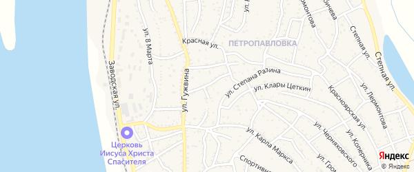 Улица Пугачева на карте Ахтубинска с номерами домов