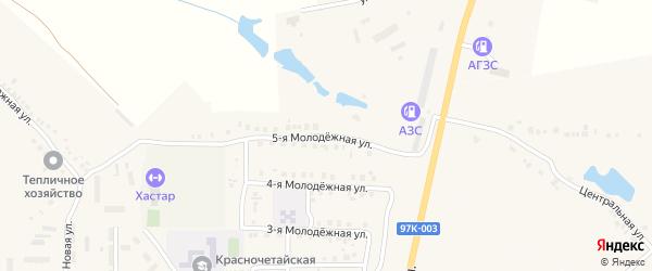 Молодежная 5-я улица на карте села Красные Четаи с номерами домов