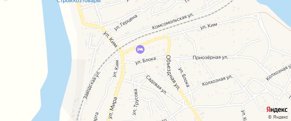Улица Блока на карте Ахтубинска с номерами домов
