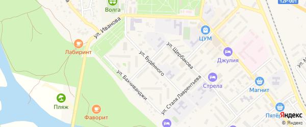 Улица Буденного на карте Ахтубинска с номерами домов