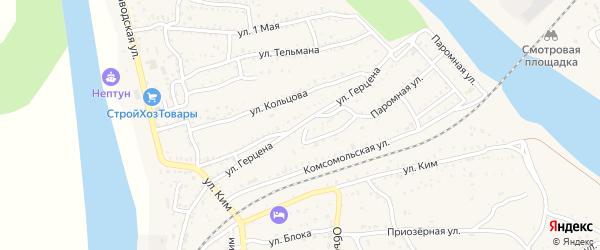 Улица Герцена на карте Ахтубинска с номерами домов