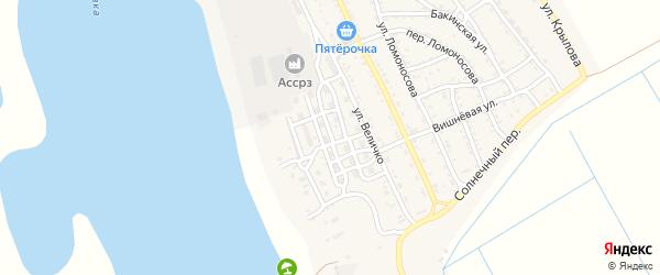 Песчаная улица на карте Ахтубинска с номерами домов