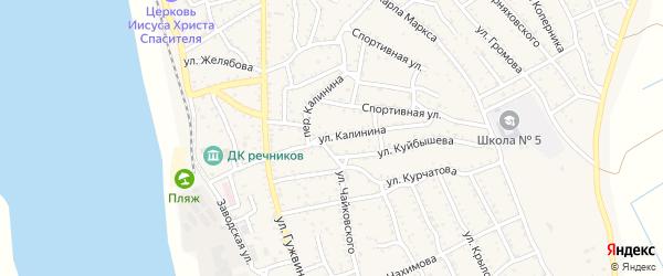 Улица Калинина на карте Ахтубинска с номерами домов