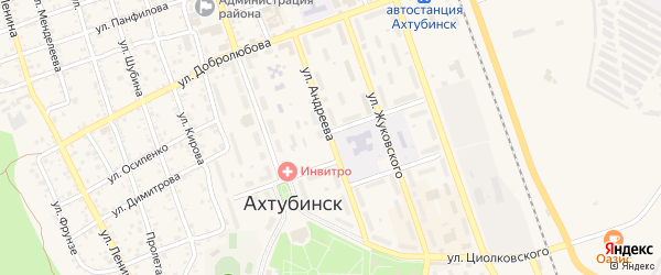 Улица Андреева на карте Ахтубинска с номерами домов