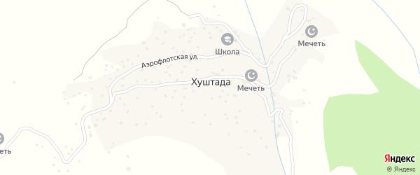 Лесная улица на карте села Хуштады с номерами домов