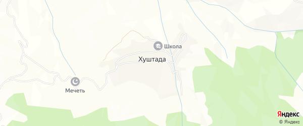 Карта села Хуштады в Дагестане с улицами и номерами домов
