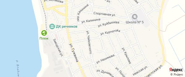 Улица Шишкина на карте Ахтубинска с номерами домов