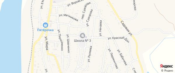 Улица Суворова на карте Ахтубинска с номерами домов