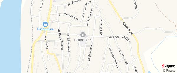 Улица Красный Дон на карте Ахтубинска с номерами домов