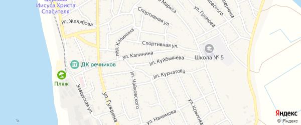 Улица Куйбышева на карте Ахтубинска с номерами домов