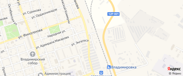 Станционная улица на карте Ахтубинска с номерами домов