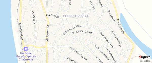Улица К.Цеткин на карте Ахтубинска с номерами домов