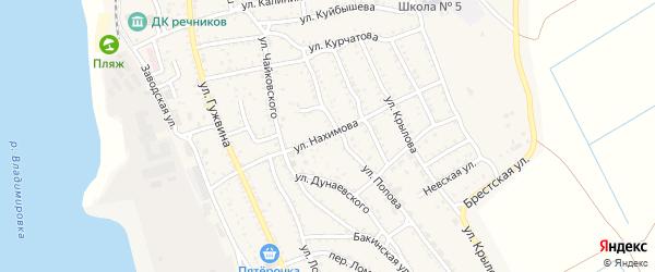 Улица Нахимова на карте Ахтубинска с номерами домов
