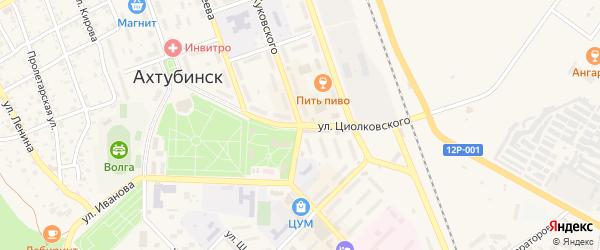 Улица Циолковского на карте Ахтубинска с номерами домов