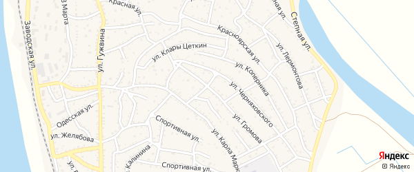 Переулок Громова на карте Ахтубинска с номерами домов