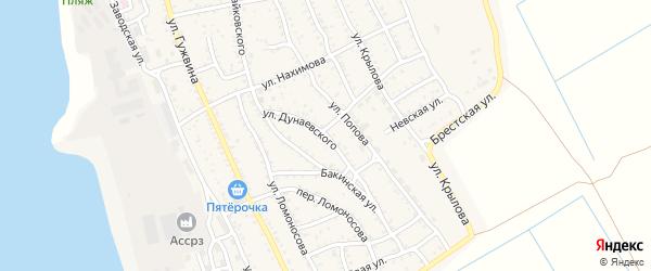 Улица Дунаевского на карте Ахтубинска с номерами домов