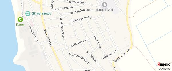 Улица Островского на карте Ахтубинска с номерами домов