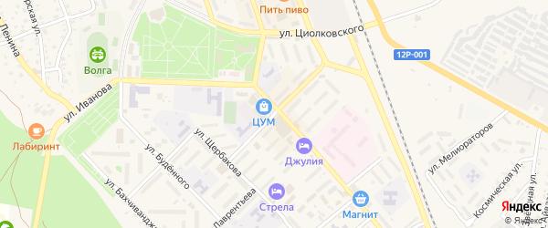 Улица Нестерова на карте Ахтубинска с номерами домов